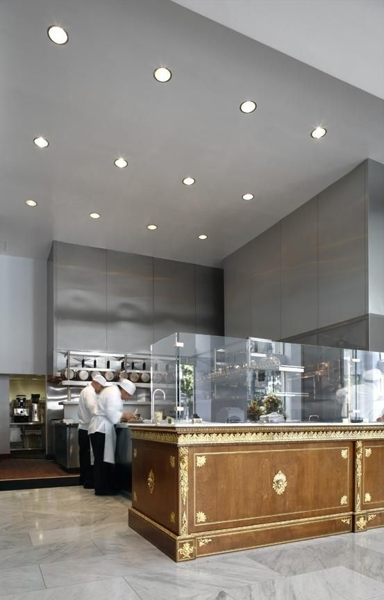 Exposed Kitchen In A Much Appreciated And Popular Restaurant Bar Market With Old World Grandeur Downtown L Designer Michael Rominske Of View Design
