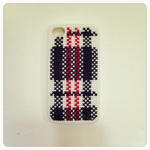 The DIY Céline Cross Stitch iPhone case