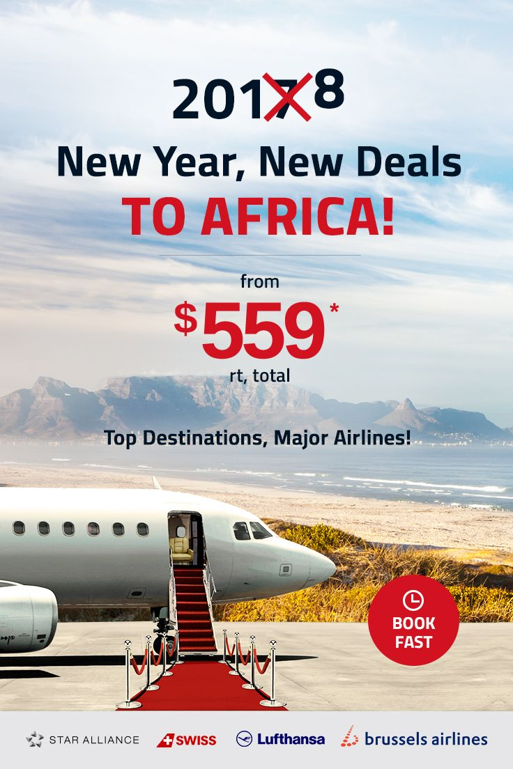 Enjoy flying with your favorite Star Alliance airlines to Nigeria, Kenya, Ghana, Ethiopia, Liberia and more! Book NOW & enjoy an unforgettable trip home! Travel dates: Jan 25 - Mar 22, 2018. #africa #travel #nigeria #kenya #ghana #Ethiopia #liberia