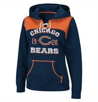 Chicago Bears Women's Hooded Lace Pullover