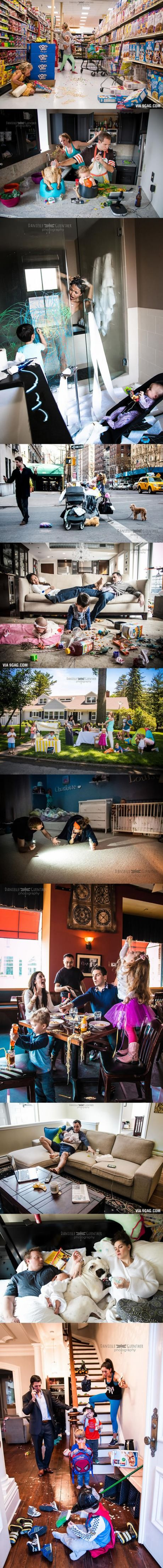 Photographer Reveals The True Chaos Of Being A Parent