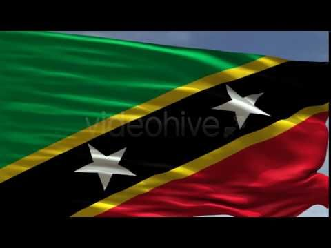 Saint Kitts and Nevis Flag  - Motion graphics element from Videohive