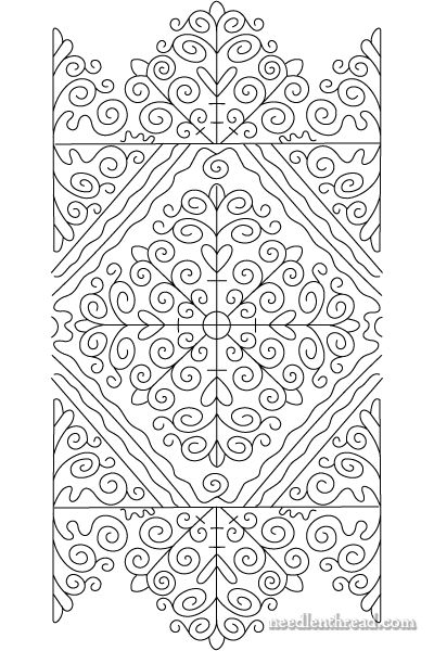 Hungarian folk embroidery pattern - I am so into folk patterns!