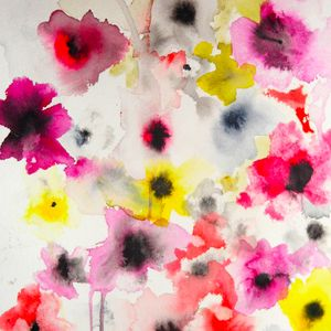 Loose floral painting. A true expression of summer.