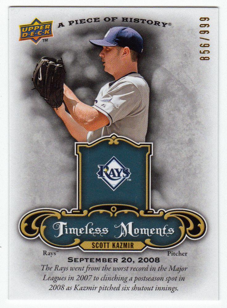 Scott Kazmir # TM SK - 2009 Upper Deck Piece of History Baseball Timeless Moments