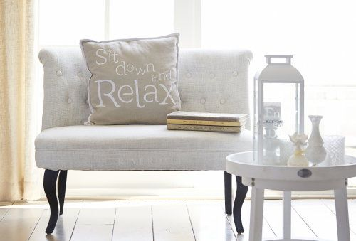 Summer Home Decor Trend 2014: Riverdale Crazy Cocktail! #Riverdale Pillows, Sidetable and Candles, in White & Ecru - Country Lifestyle!