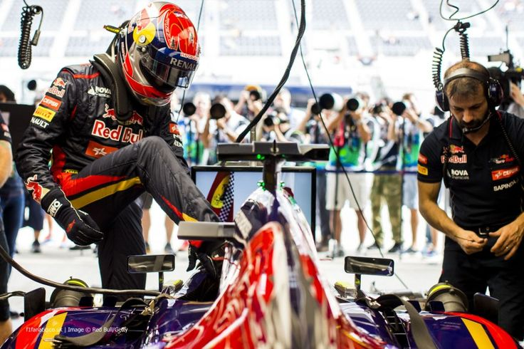 Max Verstappen, Toro Rosso, Suzuka, 2014 The Toro Rosso garage was surrounded by photographers as Max Verstappen made history by becoming the youngest driver to participate in an official F1 session, three days after his 17th birthday.
