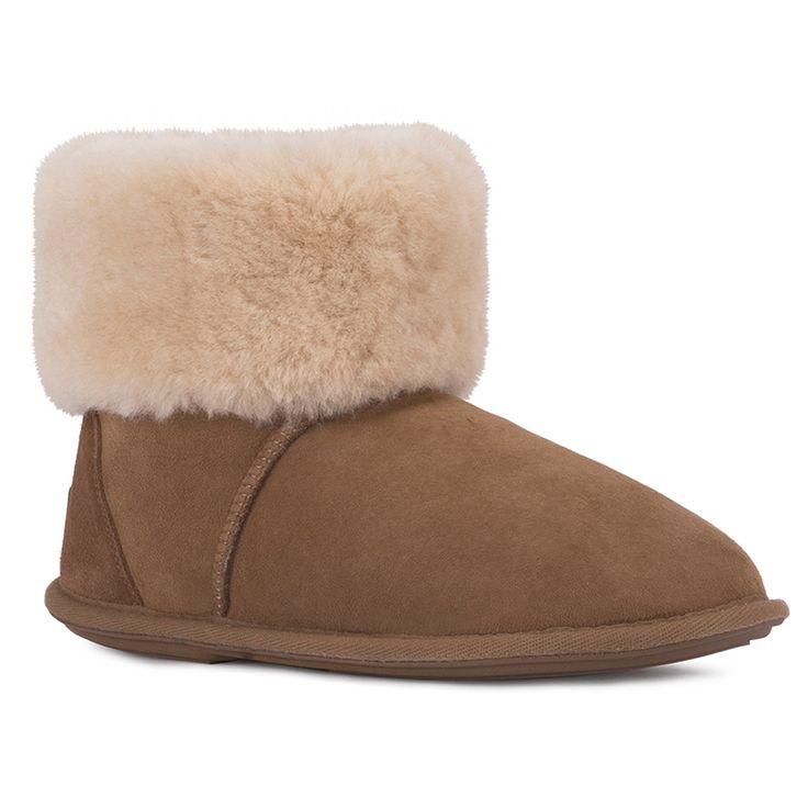 Ladies Albery Sheepskin Slippers Chestnut - Just Sheepskin