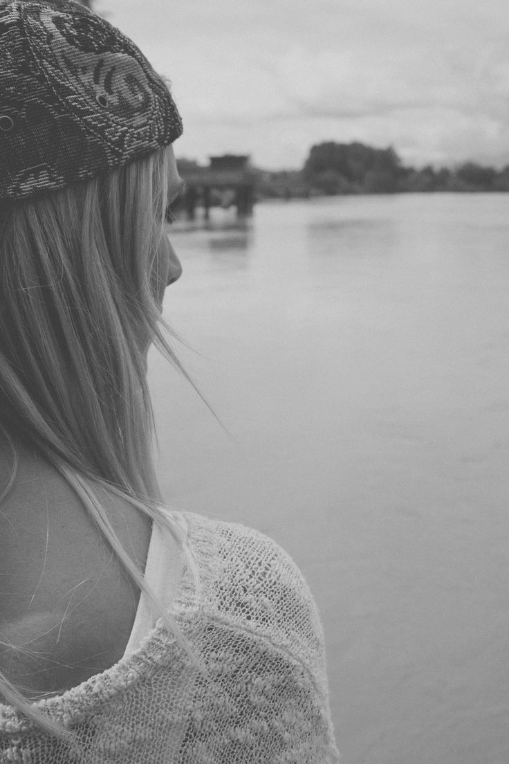 Free stock photo of black-and-white, woman, girl, lake