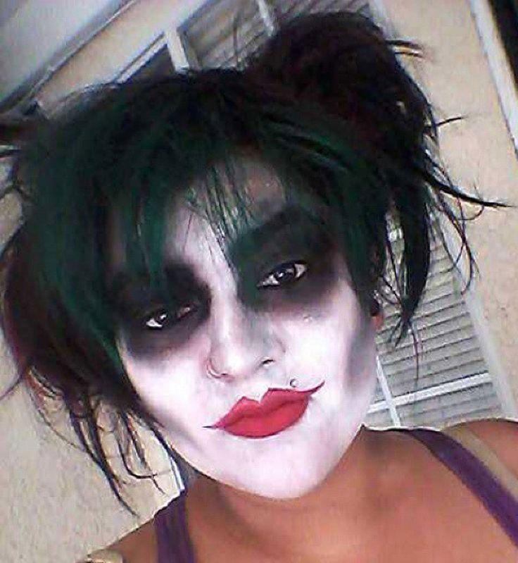Maquillage d'Halloween : le Joker au féminin