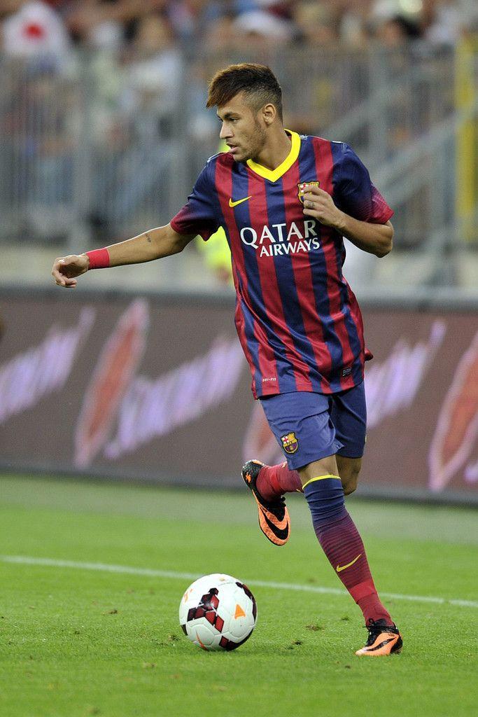 Neymar estrenant-se amb el Barça