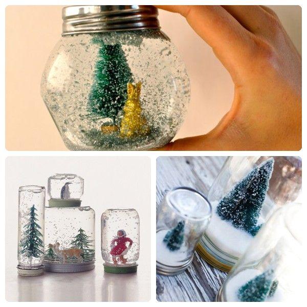 Cómo hacer una bola de nieve para Navidad                                                                                                                                                                                 Más
