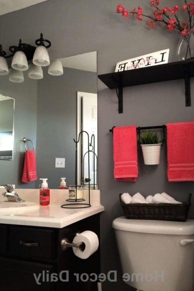 Ordinary Black White And Red Bathroom 7 Small Bathroom Dec