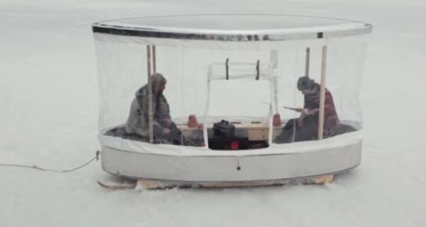 Ready for a Broject? Try a DIY Ice Fishing Shack [VIDEO]