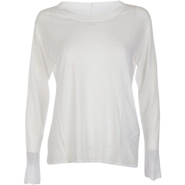 Longsleeve T Shirt ($111) ❤ liked on Polyvore featuring tops, t-shirts, white, longsleeve t shirts, long sleeve tees, longsleeve tee, zucca and white long sleeve top