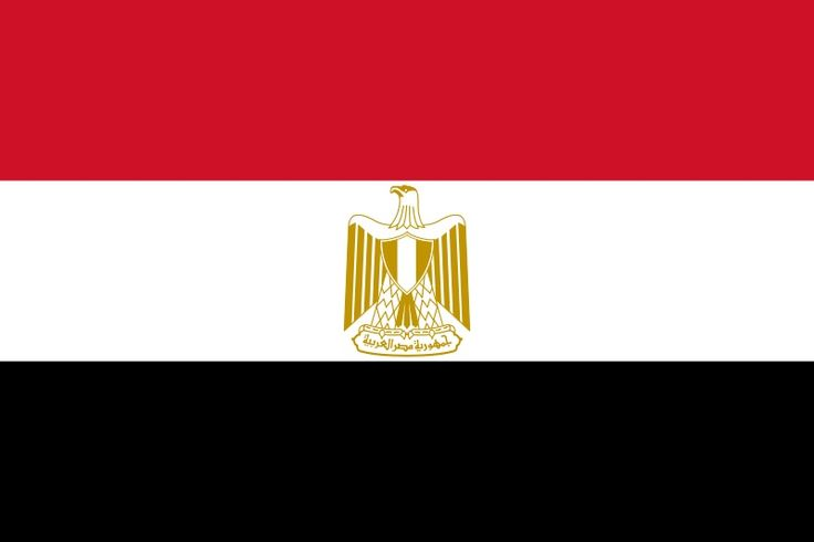 flag of Egypt   Egypt  JPEG - 24.6 ko  Name : Egypt (Arabic : Misr) is officially the Arab Republic of Egypt  Region : North Africa but with the Sinai Peninsula connecting Africa to Southwest Asia / Middle East  Capital : Cairo  Area : 1,002,450 km2  JPEG - 16.8 ko  Bordering Countries :      Gaza Strip     Israel     Sudan     Libya      Coast : Mediterranean Sea and Red Sea  Official language : Arabic  Currency : Egyptian pound (EGP)