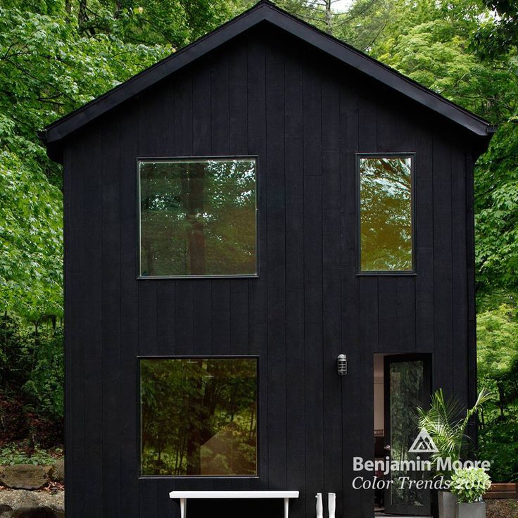 Benjamin Moore Soot Aborcoat House Black House Exterior