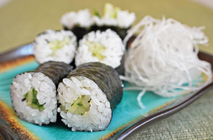 Cucumber Thin Rolls  (Kappa Maki) | This easy sushi recipe is perfect for beginners.