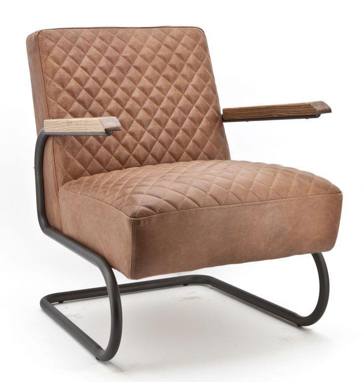 Marc fauteuil cognac - Eleonora