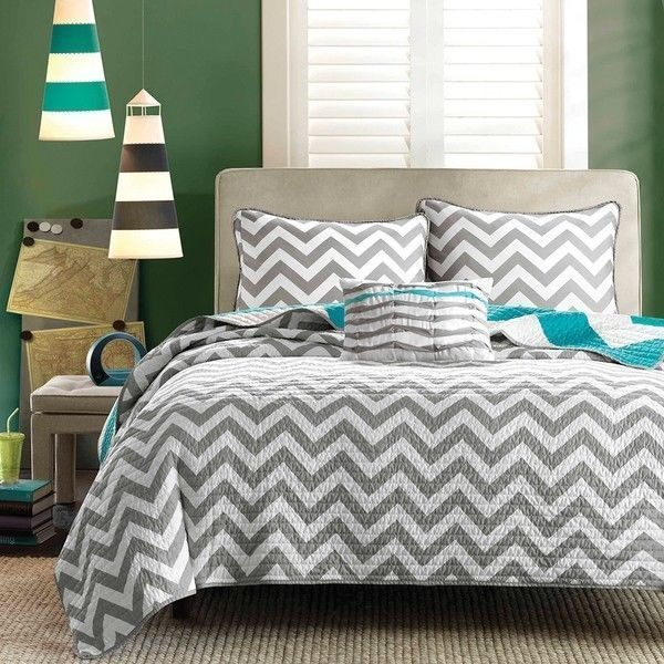 Teal And Black Comforter Sets Striped Bed Decor Bedding