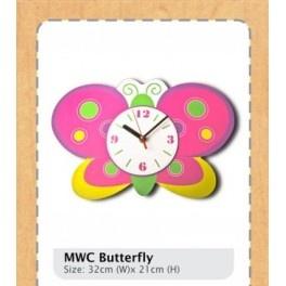 Jam Dinding Butterfly Lucu