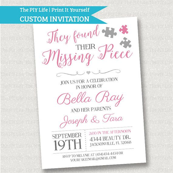 The 25 best Adoption baby shower ideas – Adoption Party Invitations