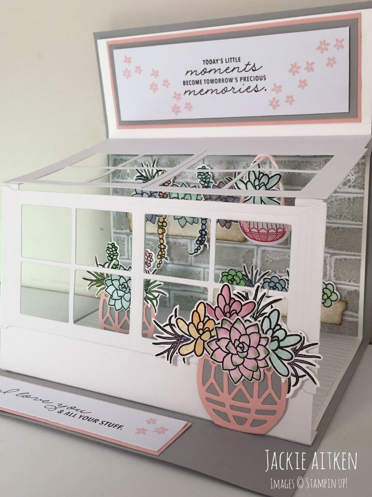 Oh So Succulent bundle - Stampin Up! - Succulent Greenhouse Card