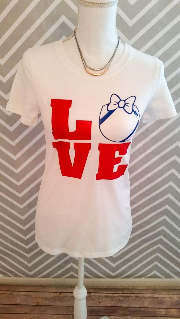 Love football, football shirt, football tee, shirt, tee, vinyl by RACustomDesigns on Etsy