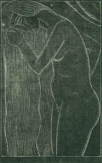 Eric Gill, Hair Combing, 1922