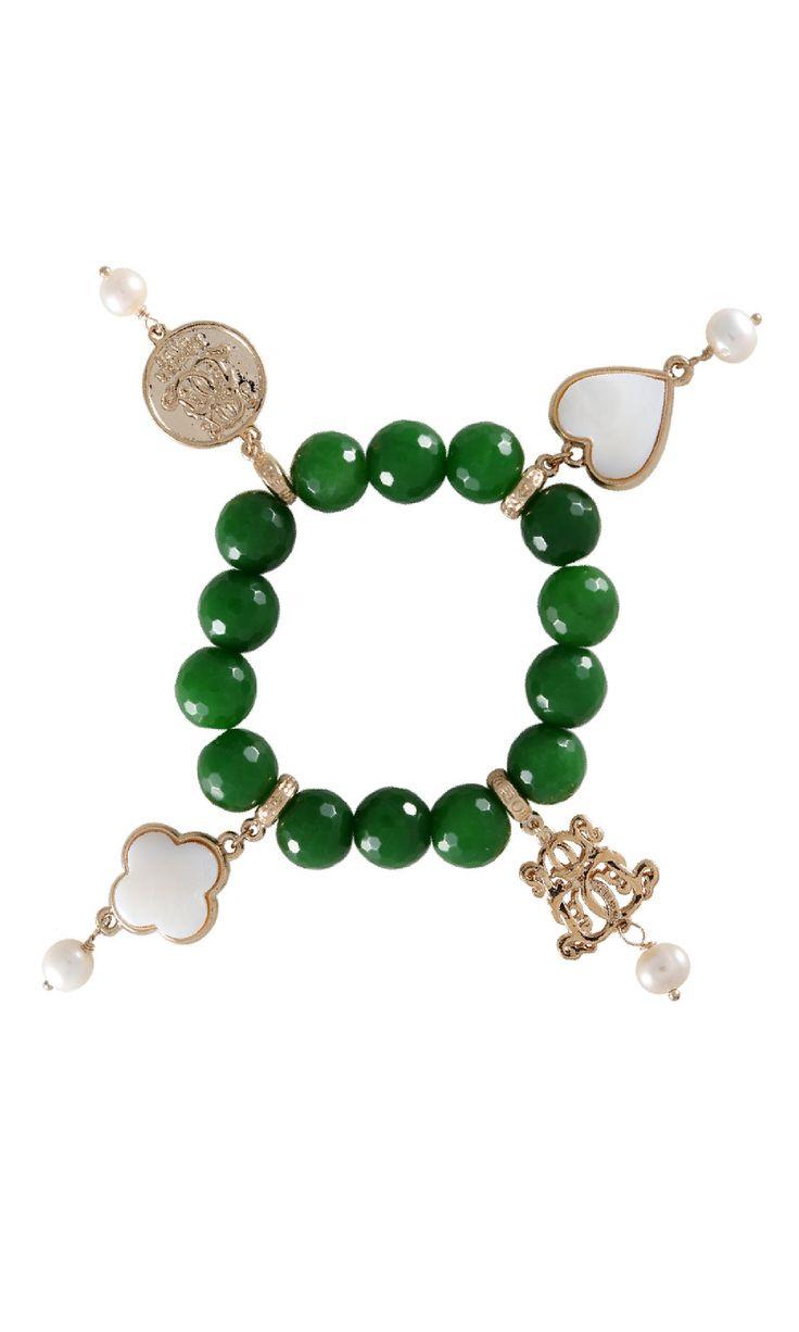Lucky Charm Bracelet - Aventurine #designerbracelet #designerjewellery #designerjewelry #jewellery #bracelet #Duchess #fashion #designerfashion