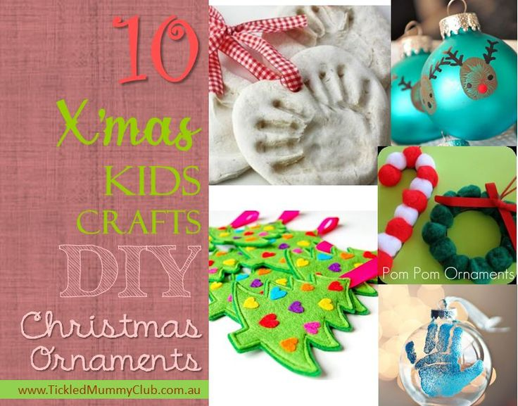 10 DIY Christmas ornaments you make with your kids. Easy-to-make Christmas Kids Craft ideas now! #TickledMummyClub #ChristmasCraft #ChristmasOrnament