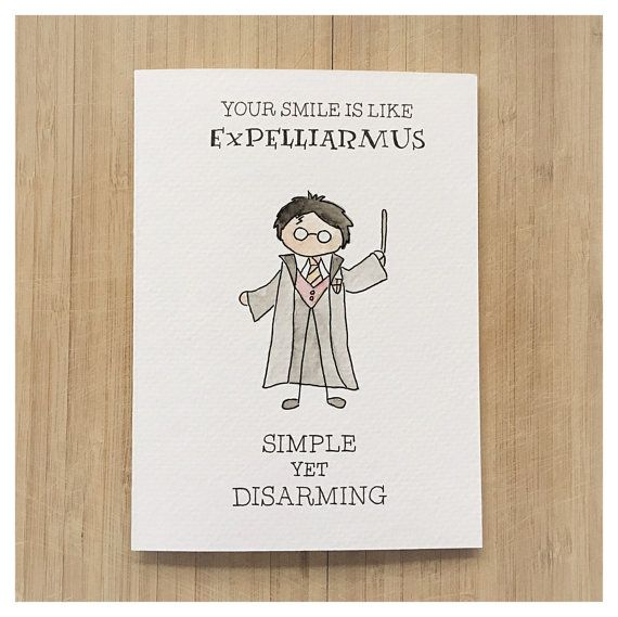 HARRY POTTER LOVE CARD (Expelliarmus: you put a spell on me) Valentines Day, Anniversary, Love, Friendship Greeting Card Cards: - kenzieCARDS are a