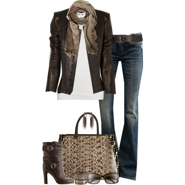 A fashion look from October 2012 featuring Rick Owens blouses, William Rast jeans and Gianvito Rossi boots. Browse and shop related looks.