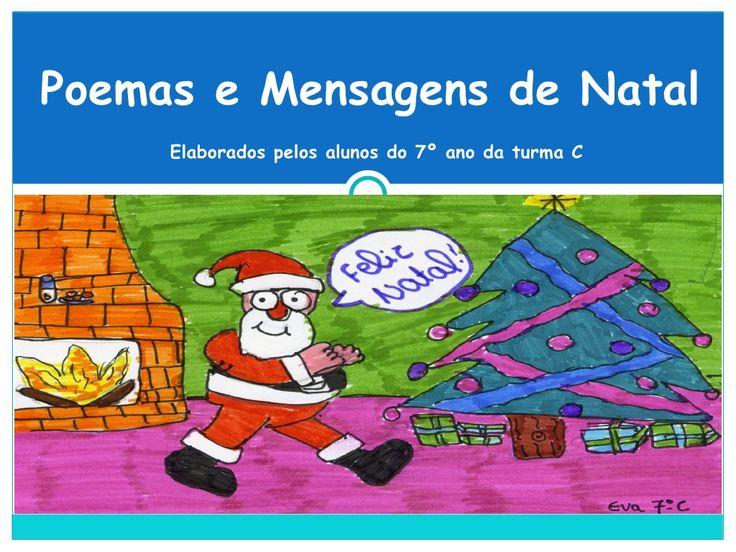 Poesias de Natal by angelagomescosta via slideshare