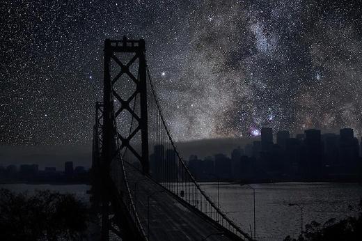 Как выглядели бы ночные мегаполисы по всему миру, если бы в них не было искусственного освещения.