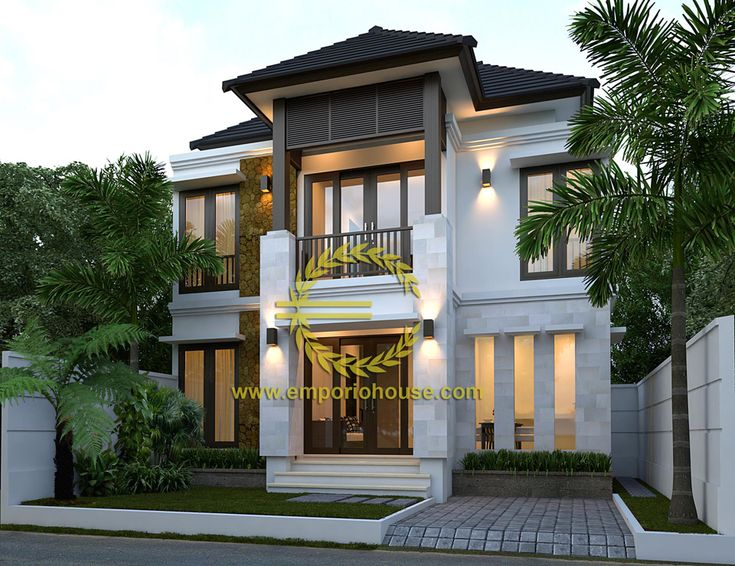 Desain Rumah 2 Lantai 3 kamar Lebar Tanah 10 meter dengan ukuran Tanah 1 are/100m2