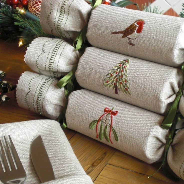 woodland reusable christmas crackers by kate sproston design | notonthehighstreet.com     Love these!