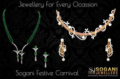 #Sogani #Jewellers Welcomes you to #Grand #Festive #Carnival where, you can buy #Gold, #Diamond, #Platinum #Jewellery and #Silverware for every #Occasion at never before #Prices.  #Assured #Gift on #Every #Shopping. #SoganiFestiveCarnival Shopping at Sogani Jewellers -> Festival Carnival  -> Gift voucher on every purchase  -> I Phone ,Smart phones, silver coins & other attractive articles. #Visit #Our #Store #Sogani #Jewellers  C-19, Vaishali Marg, Vaishali Nagar Jaipur.