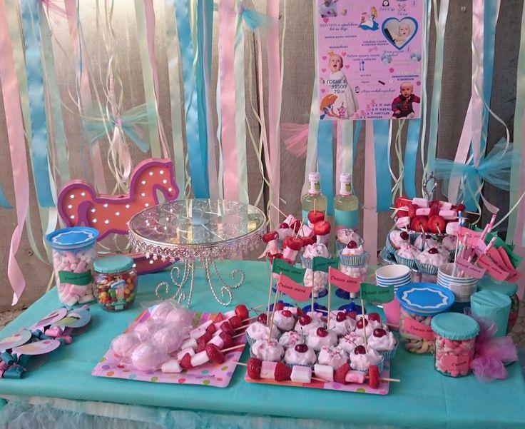 Candy bar/сладкий стол на празднике Алисы