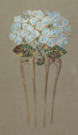 Eugene Grasset (1841-1917), comb drawing