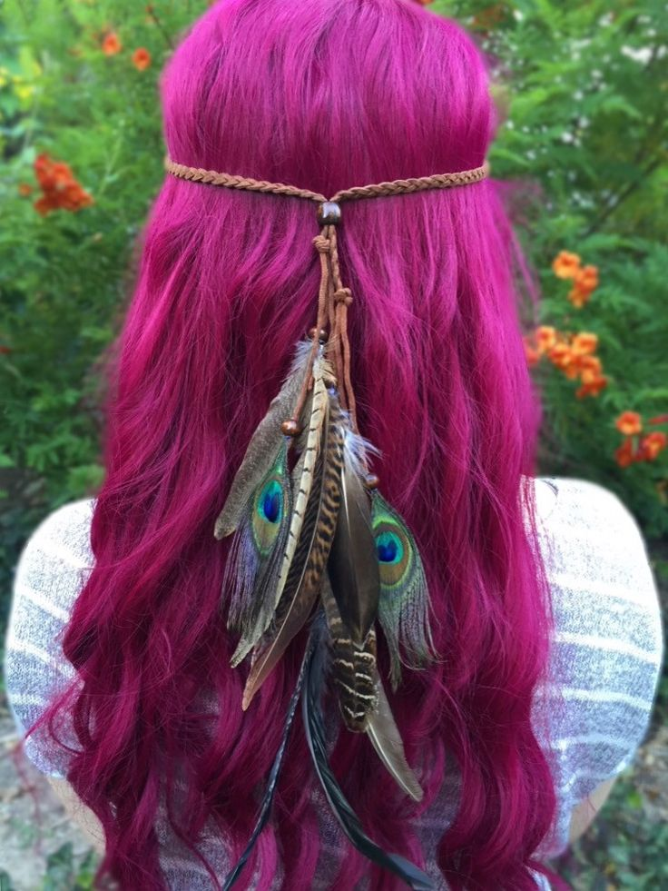 Stunning headband made with braided faux suede leather cord and an assortment of…                                                                                                                                                                                 More