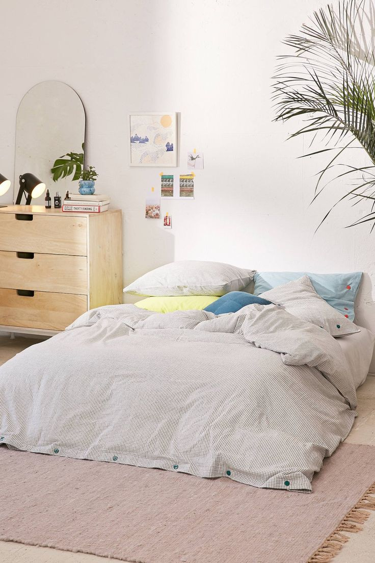 Micro Check Yarn-Dye Duvet Cover   Urban Outfitters