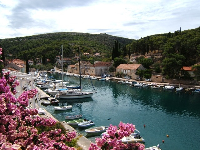 Bobovisca village in Brac (Croatia)