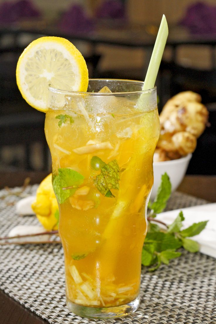 HERBY TEA Ingredient : Tea, Ginger, Lemon Grass, Mint Leaf, Simple Syrup. Replace other drinks with lemongrass-ginger tea and fresh mint leaves for a wonderfully refreshing day time drink and enjoy its health benefits.