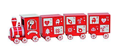 Adventskalender zum Befüllen, 4-teilig, 48x8x11 cm aus Holz, Eisenbahn-Optik in rot-weiß | Weihnachtskalender für Kinder und Erwachsene finde hier noch mehr http://www.woonio.de/p/4-tlg-zug-rot-weiss-adventskalender-eisenbahn-lokomotive-holz-mit-24-kaestchen/