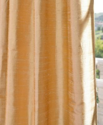 Textured Dupioni Silk 50 x 108 Curtain Panel