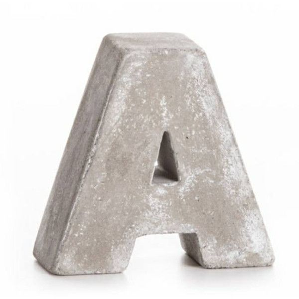 One 3 Cement letter/tabletop Decor letter/rustic letters/wedding... ($4.95) ❤ liked on Polyvore featuring home, home decor, black, home & living, home décor, wall décor, monogrammed home decor, rustic home decor, black home decor and rustic home accessories