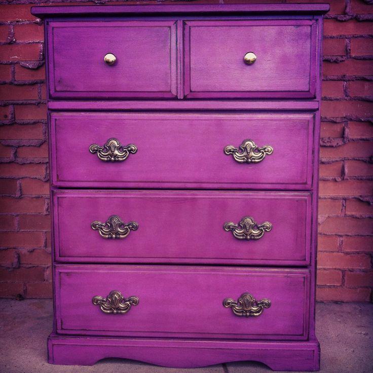 Gypsy dresser purple and gold