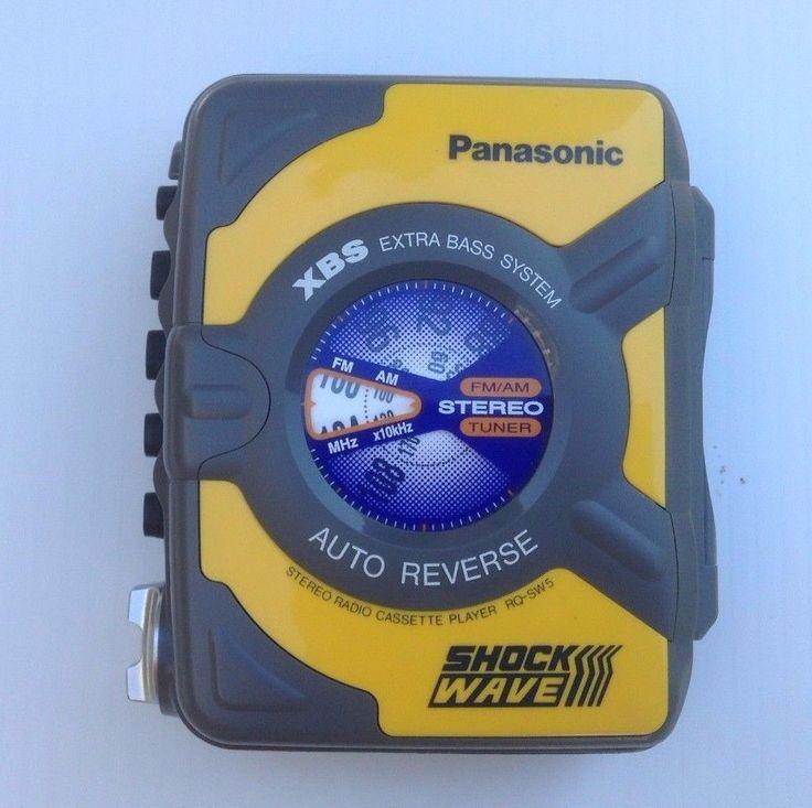 Panasonic Shock Wave XBS AM/FM Radio Cassette Player Walkman RQ-SW5  #Panasonic