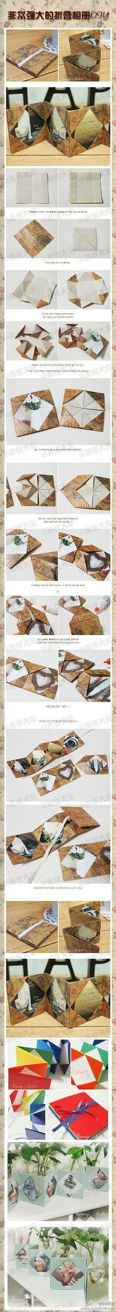 Origami photo frame book tutorial